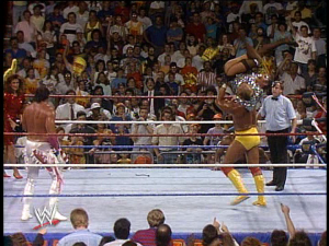 And then Hogan physically assaults a woman.
