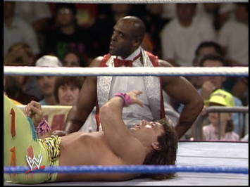 Virgil seems super pissed Dibiase didn't eliminate him already